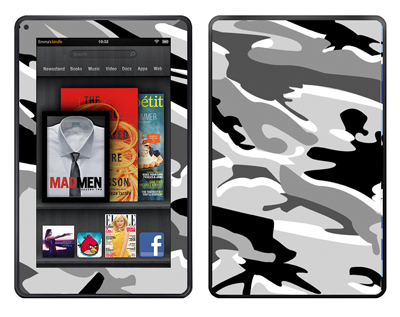 Amazon Kindle Fire Skin :: Camo Snow
