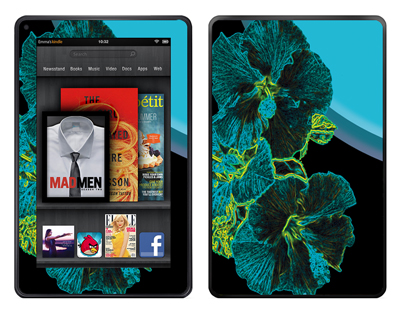 Amazon Kindle Fire Skin :: Cosmic Flowers 2