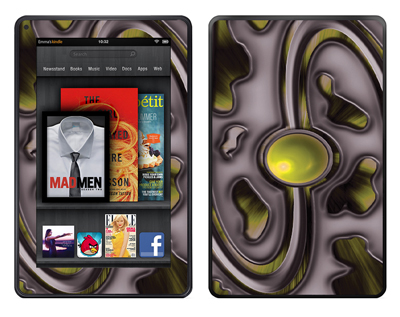 Amazon Kindle Fire Skin :: Cynic Yellow