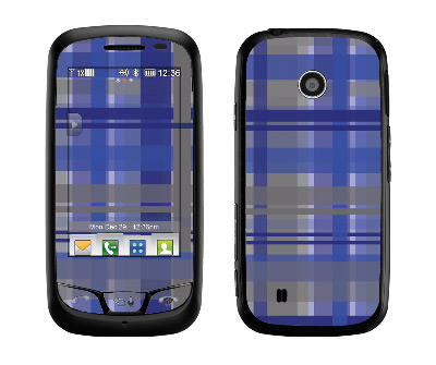 LG Cosmos Touch Skin :: Oceans Deep Plaid