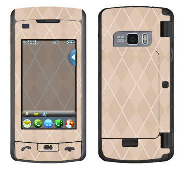 LG enV Touch Skin :: Argyle Tan