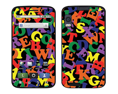 Motorola Atrix Skin :: Alphabet Soup