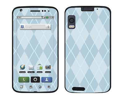 Motorola Atrix Skin :: Argyle Blue