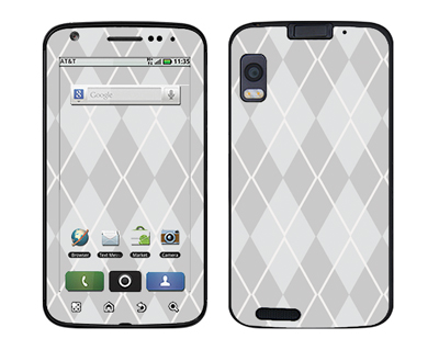 Motorola Atrix Skin :: Argyle Gray