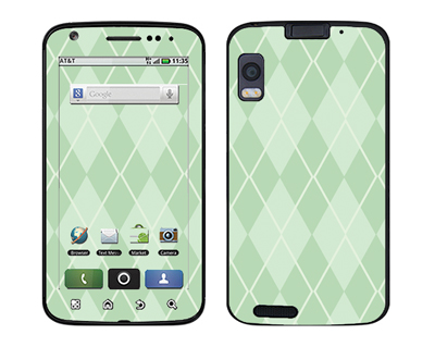 Motorola Atrix Skin :: Argyle Green