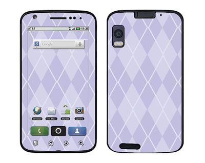Motorola Atrix Skin :: Argyle Purple