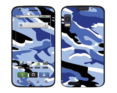 Motorola Atrix Skin :: Camo Blue