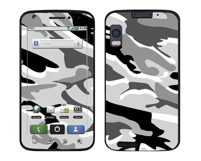 Motorola Atrix Skin :: Camo Snow