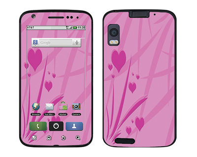 Motorola Atrix Skin :: Floating Hearts