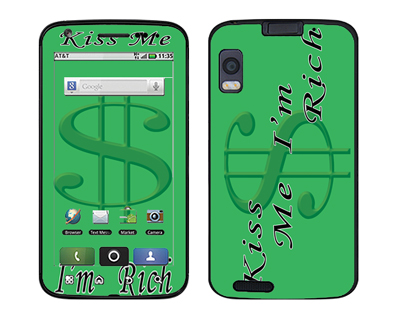 Motorola Atrix Skin :: Kiss Me Rich