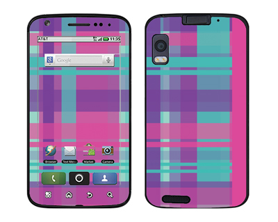 Motorola Atrix Skin :: Candy Shop Plaid