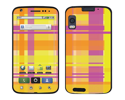 Motorola Atrix Skin :: Sun Kissed Plaid