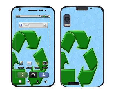 Motorola Atrix Skin :: Recycle