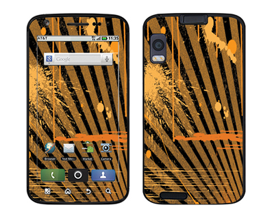Motorola Atrix Skin :: Splatter Orange