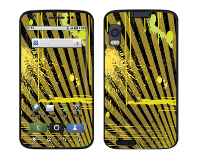 Motorola Atrix Skin :: Splatter Yellow