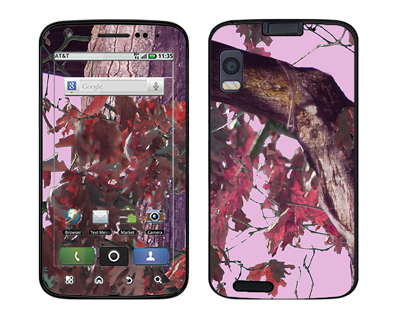 Motorola Atrix Skin :: Tree Camo Pink