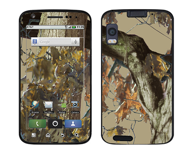 Motorola Atrix Skin :: Tree Camo Tan