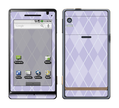Motorola Droid Skin :: Argyle Purple