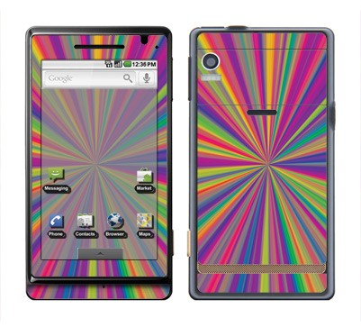 Motorola Droid Skin :: Color Blast