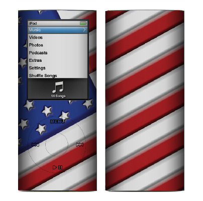 Apple Nano 4th Gen Skin :: American Flag 1