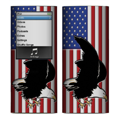 Apple Nano 4th Gen Skin :: American Flag 2