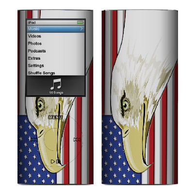 Apple Nano 4th Gen Skin :: American Flag 3