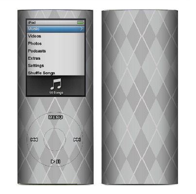 Apple Nano 4th Gen Skin :: Argyle Gray