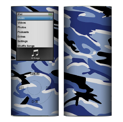 Apple Nano 4th Gen Skin :: Camo Blue