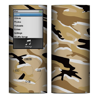 Apple Nano 4th Gen Skin :: Camo Desert
