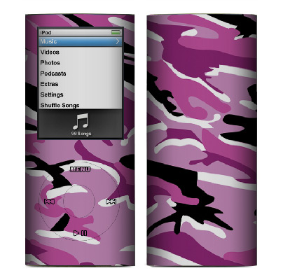 Apple Nano 4th Gen Skin :: Camo Pink