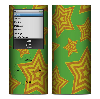 Apple Nano 4th Gen Skin :: Falling Stars