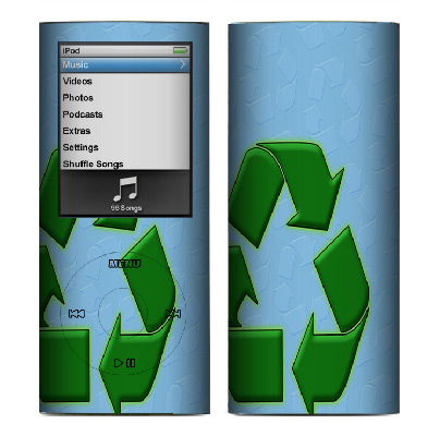 Apple Nano 4th Gen Skin :: Recycle