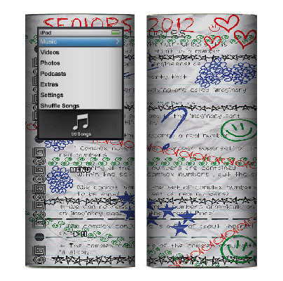 Apple Nano 4th Gen Skin :: Seniors 2012