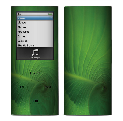 Apple Nano 4th Gen Skin :: Spiraling Green