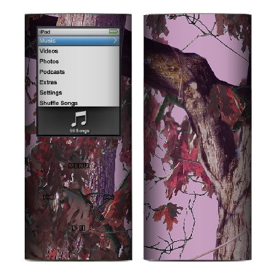 Apple Nano 4th Gen Skin :: Tree Camo Pink