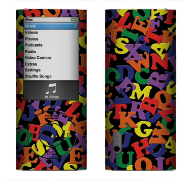 Apple Nano 5th Gen Skin :: Alphabet Soup