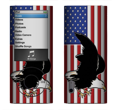 Apple Nano 5th Gen Skin :: American Flag 2