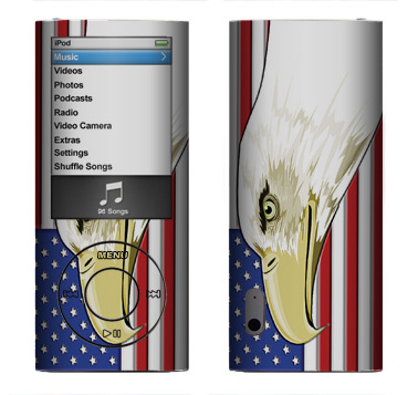 Apple Nano 5th Gen Skin :: American Flag 3