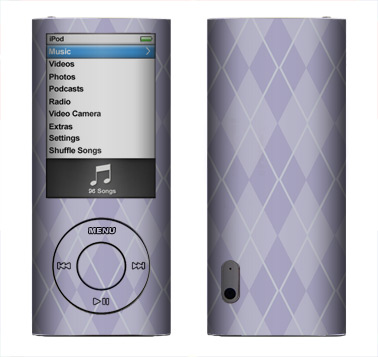 Apple Nano 5th Gen Skin :: Argyle Purple