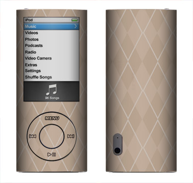 Apple Nano 5th Gen Skin :: Argyle Tan