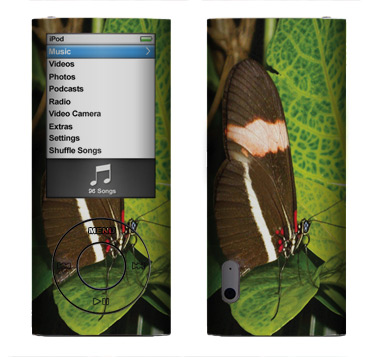 Apple Nano 5th Gen Skin :: Butterfly 1