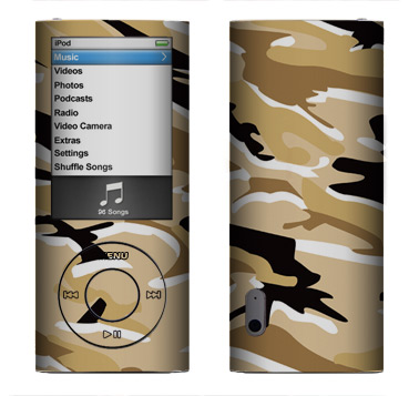 Apple Nano 5th Gen Skin :: Camo Desert