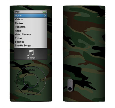 Apple Nano 5th Gen Skin :: Camo Green