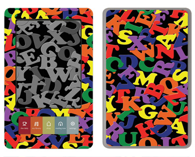 Barnes &amp; Noble Nook Skin :: Alphabet Soup