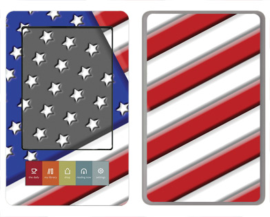 Barnes &amp; Noble Nook Skin :: American Flag 1
