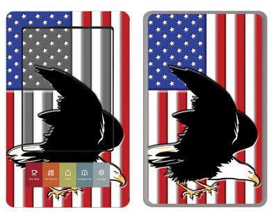 Barnes &amp; Noble Nook Skin :: American Flag 2