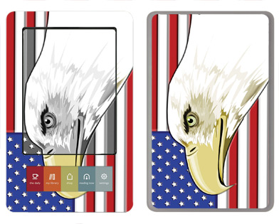 Barnes &amp; Noble Nook Skin :: American Flag 3
