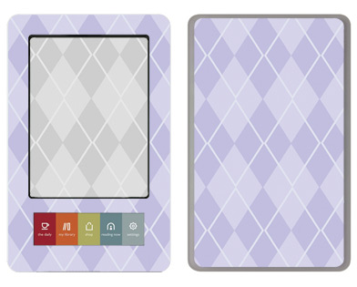 Barnes &amp; Noble Nook Skin :: Argyle Purple