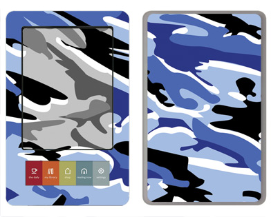 Barnes &amp; Noble Nook Skin :: Camo Blue