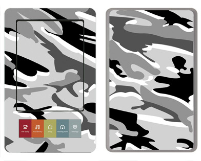 Barnes &amp; Noble Nook Skin :: Camo Snow